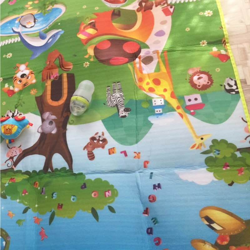 H9f96b10c6b4e4617b7e894320d147131G Baby Crawling Puzzle Play Mat Blue Ocean Playmat EVA Foam Kids Gift Toy Children Carpet Outdoor Play Soft Floor Gym Rug