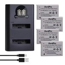 Chargeur de batterie Li-ion de remplacement, 1200mAh, pour Nikon Coolpix P100 P3 P4 P500 P510 P5000 P5100 P6000 P80 P90