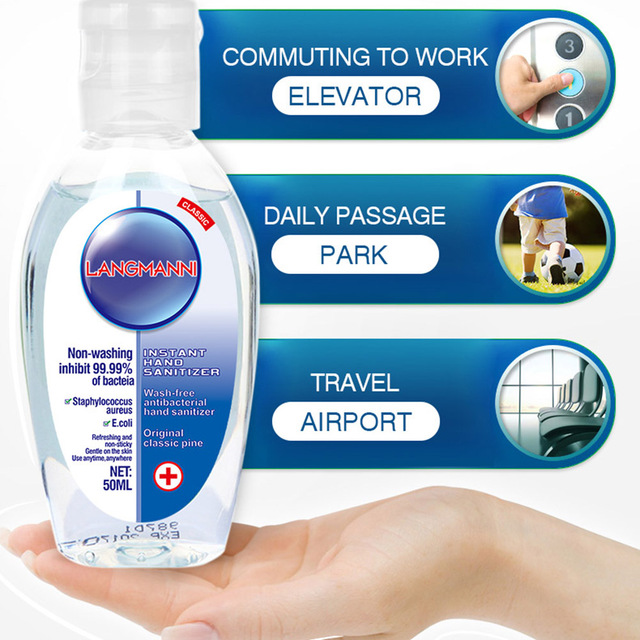 50ml Disposable Hand Sanitizer Household Travel Anti Bacterial Quick-dry Hand Disinfection Gel for Kid Adult 4