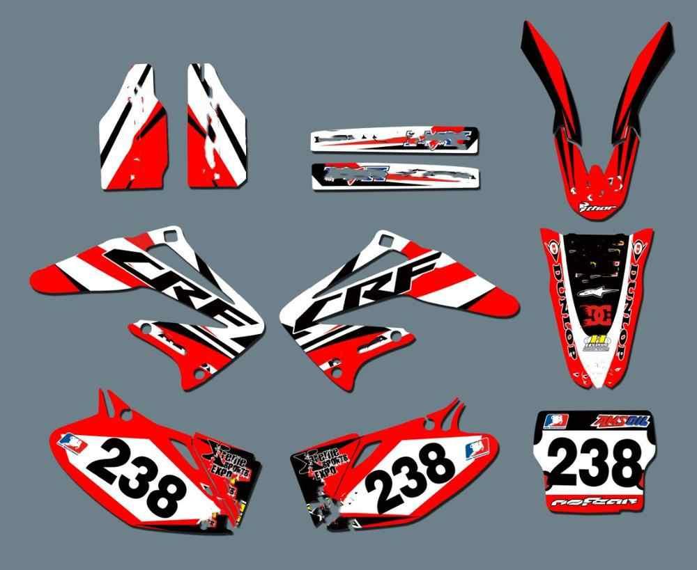 Honda Dekor CRf 450R 2002 2003 2004  decals /'02 /'03 /'04 SCRUB Motocross