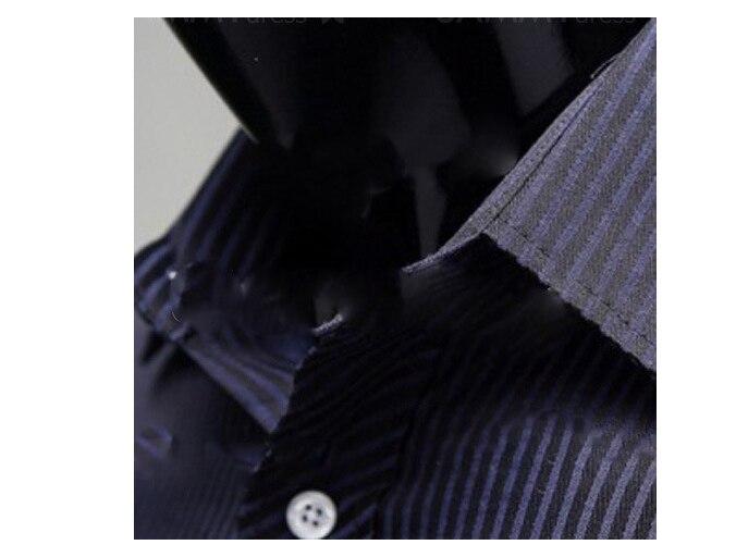 2020 Gentleman Stripe Long Sleeve Shirt Leisure Men's Casual Slim Long-sleeved Shirt Top Blouse Business Men Brand Clothing 4