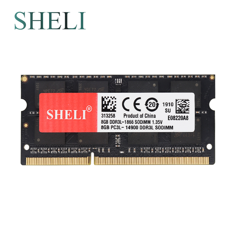 SHELI Notebooks Memory 8GB 2RX8 PC3-10600S DDR3 1333MHZ 8GB 2RX8 PC3-12800S DDR3L 1600MHZ 8GB 2RX8 PC3-14900S DDR3L 1866MHZ image