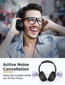 Image 4 - Mpow H12 IPO פעיל רעש ביטול אוזניות Bluetooth 5.0 אלחוטי מעל אוזן אוזניות עם CVC 8.0 מיקרופון & 40 שעות זמן משחק