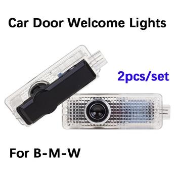4pcs LED Door car logo light For BMW M E90 E60 E61 F12 e63 e65 F10 F02 F16 F11 E85 E89 e67 e68 Emblem Ghost Shadow Welcome Lamp liandlee for bmw 7 series e65 e66 e67 e68 2001 2008 led car license plate light number frame lamp high quality led lights