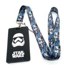 New 10 pcs  Cartoon star wars  card  Lanyard Key Chains Card Holders Bank Card Neck Strap Card Bus ID Holders M105