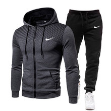 2021 new Autumn and winter Men's Sets hoodies+Pants Harajuku Sport Suits Casual Sweatshirts Tracksuit Brand Sportswear S-3XL