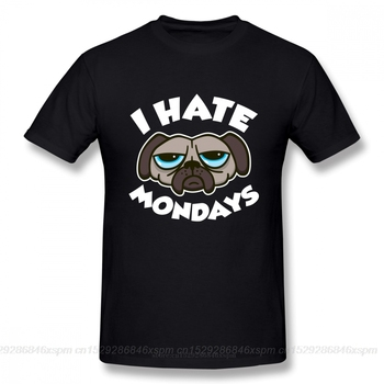 Jeden yona kreatywny projekt dla mężczyzn nienawidzę poniedziałki koszulka nowość kreskówka pies T Shirt hip hop lato krótki rękaw