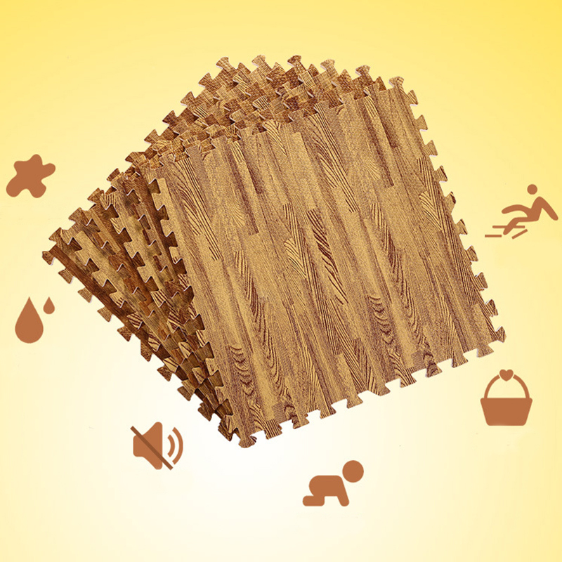 H9f978a60ce8d4ddd81a8e61a860dab501 Wooden Puzzle Mat Foam 30*30*1cm Baby Play Mat Splicing Bedroom Soft Floor Interlocking Kids Rug Living Room Gym Crawling Carpet