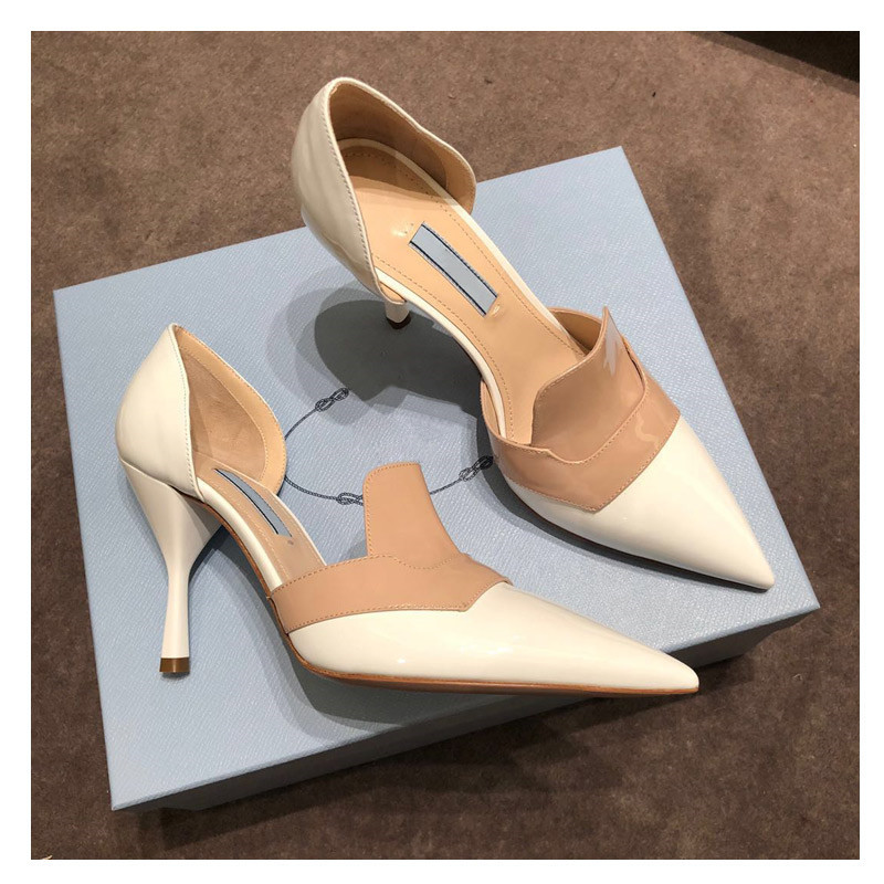 Pumps Women 2020 Spring High Heels Shoes Women Pointed Toe Party Shoes Sexy Buty Damskie Mixed Color Shoes Cozy Zapatos De Mujer