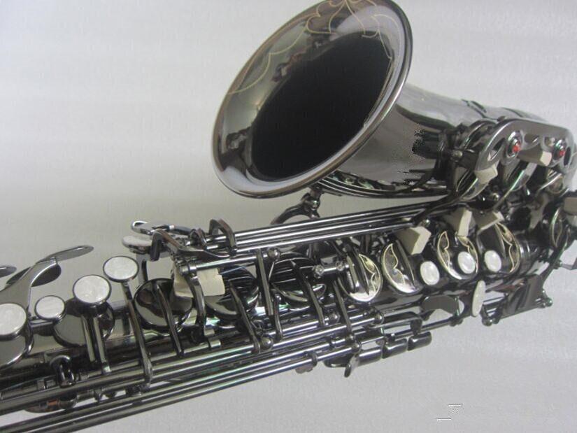 Preto Ouro saxofone instrumentos musicais Super tocou Sax profissional da classe