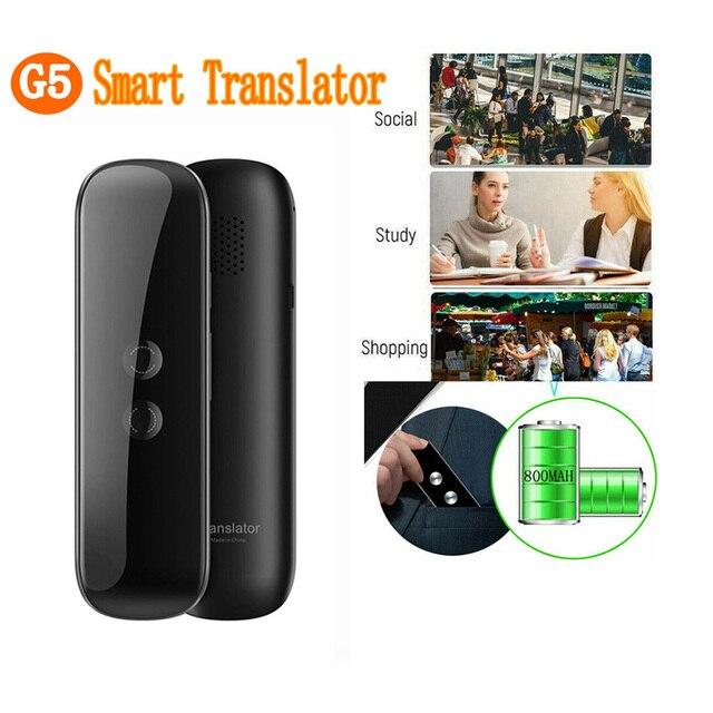 G5 Istantanea Voce Lingua Traduttore 40 Lingue di Traduzione Viaggio Della Macchina di Business Intelligente Interprete, Nero