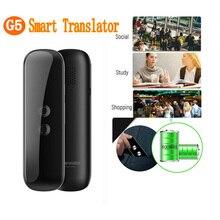 G5 traductor de idioma de voz instantáneo máquina de traducción de 40 idiomas traductor inteligente de negocios de viaje, negro