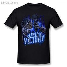 Sub zero mortal kombat c vitória men's camiseta de manga curta