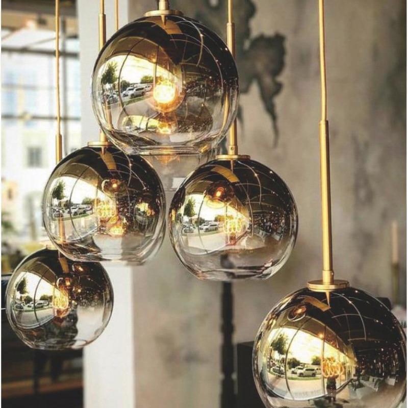 Silver Gold Glass Lights Chandelier Lighting Restaurant Combination Hanging Lights Lamparas De Techo Colgante Moderna