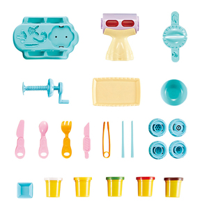 Image 4 - חדש Playdough ילדי של 3D פאזל צבע בוץ סט רב פונקציה ופל מכונה כיף אטריות כופתאות בעבודת יד DIY פלסטלינה צעצוע