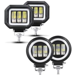 Image 1 - 6D Lens 5 Inch Led Work Light 30W 12V 24V 6000K White Flood Beam For Motorcycle SUV Car 4x4 Truck Offroad Driving Lights