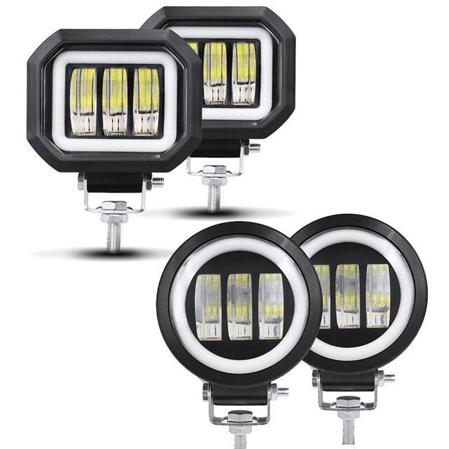 6D Lens 5 Inch Led Work Light 30W 12V 24V 6000K White Flood Beam For Motorcycle SUV Car 4x4 Truck Offroad Driving Lights