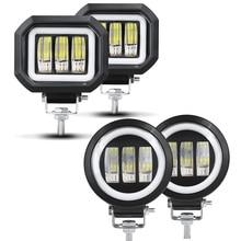 6D lentille 5 pouces Led lumière de travail 30W 12V 24V 6000K blanc faisceau dinondation pour moto SUV voiture 4x4 camion Offroad conduite lumières