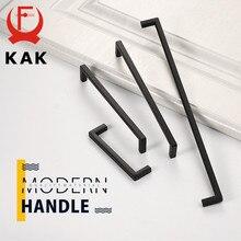 KAK-Pomos y tiradores de armario para cocina, color negro, dorado, tiradores de puertas, cajones cuadrados, puerta, tirador de mueble, manija, Hardware de puerta