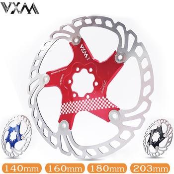 цена на VXM Bicycle Floating brake disc float/ultralight MTB bike brake pads six hole disc rotors 140/160/180/203mm Bicycle parts