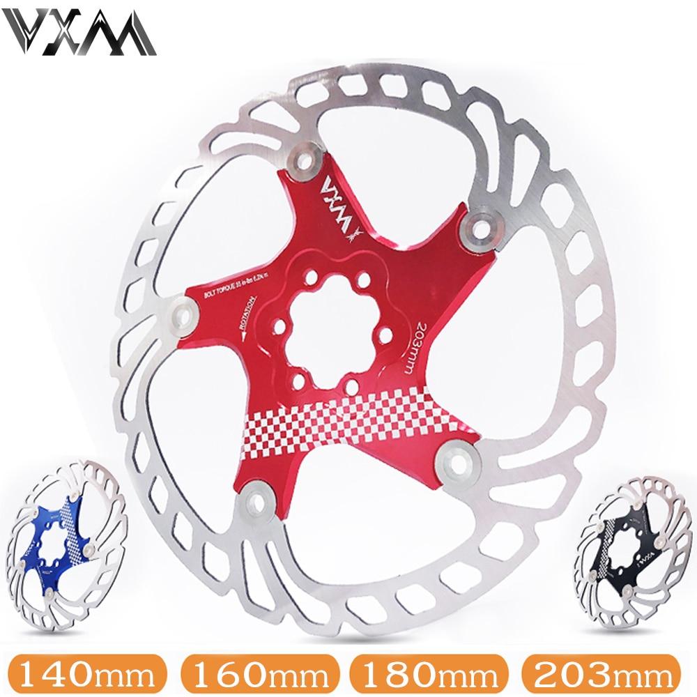 Велосипед vxm плавающие дисковые тормоза поплавок/сверхлегкий MTB велосипедные тормозные колодки с шестью отверстиями дисковые роторы 140/160/180/203 мм Запчасти для велосипедов|Велосипедный тормоз|   | АлиЭкспресс