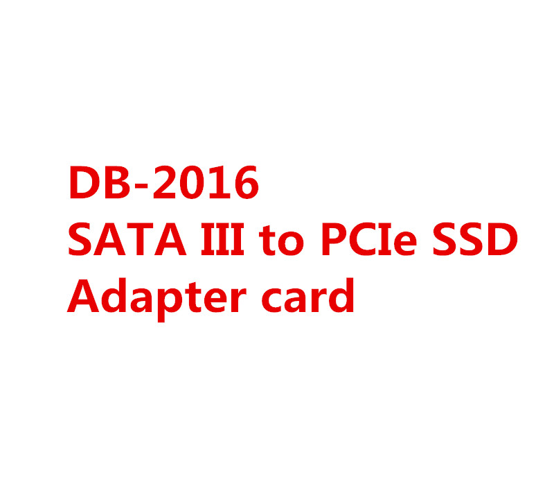 DEBROGLIE 10PCS DB-2016 SATA III to PCIe SSD Adapter card image