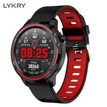 LYKRY L8 inteligentny zegarek mężczyźni IP68 wodoodporny SmartWatch ekg PPG ciśnienie krwi tętno sport fitness zegarki dla Apple xiaomi