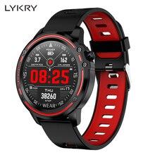 Lykry L8 スマートウォッチの男性 IP68 防水スマートウォッチ ecg ppg 血圧心拍数スポーツフィットネス腕時計アップル xiaomi