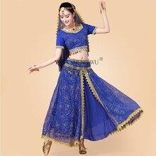 2/3/5pcs Set Adult Indian Dance Costume Belly Dance Stage Performance Clothes Women Oriental Dance Sari Suit Bollywood Dancewear