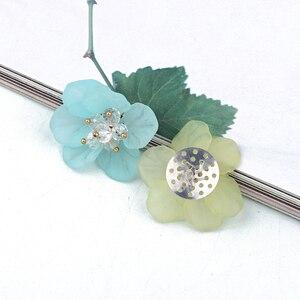 3 шт 3D скраб горный хрусталь на запястье цветок ручной работы разъемы для ювелирных изделий Diy аксессуары для волос значок брошь из бисера