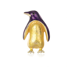 Creative Korean personality penguin brooch cartoon cute drops of oil animal corsage spot factory outlet