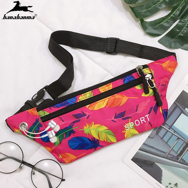 Unisex Running Bum Bag Waterproof Sling Bag Nylon Dual Zipper Casual Backpack BagOutdoor Phone Pack Anti-theft Pack Mini Backp