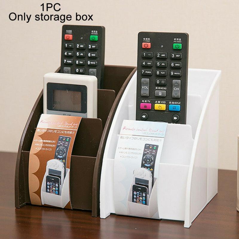 Hotel Universal 3 Grid Bedroom For Air Conditioner TV Home Remote Control Holder Practical Desktop Office Plastic Storage Box
