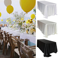 Black White Wedding Satin Tablecloth Table Cloth Rectangle For Hotel Banquet Party Events Decoration Table Cover Topper Overlay