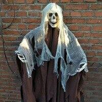 165 см хэллоуин подвесной Призрак для дома с привидениями Escape ужас украшения к Хэллоуину жуткий страх реквизит тема вечерние падение орнамен...