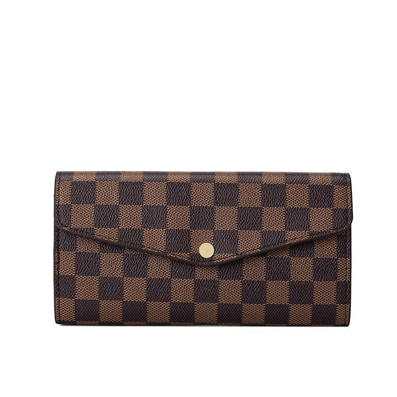 KYYSLO Lattice Luxury Women's Bag European And American Fashion Wallet Trend  Bills Zero Clutch Bag Multi-function Long Wallet