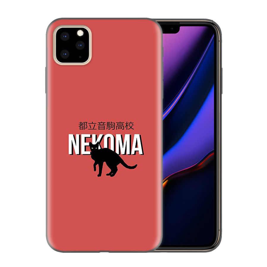 Silicone Ponsel Case PENUTUP UNTUK iPhone XR X Max X 7 8 6 6S Plus 11 11Pro Max 5 5S SE 2020 7Plus 8 PLUS Haikyuu Nekoma Anime Case