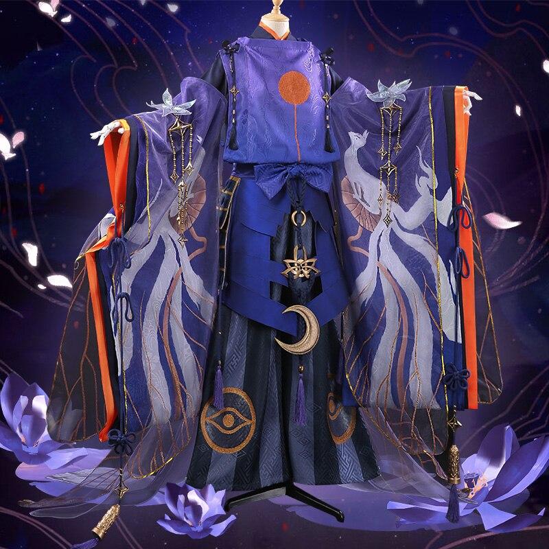 Anime Onmyoji Tamamo No Mae QingLianTuiMeng NEW Skin Kimono Gorgeous Uniform Cosplay Costume Women Halloween Free Shipping 2019