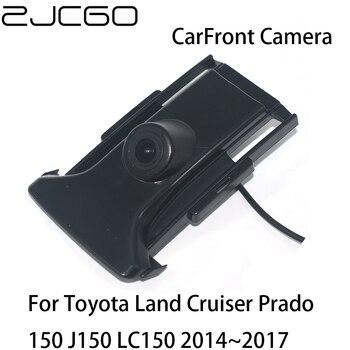 ZJCGO HD CCD Car Front View Parking LOGO Camera Night Vision Positive for Toyota Land Cruiser Prado 150 J150 LC150 2014~2017 liislee dynamic guidance rear camera for toyota ist urban cruiser 2007 2016 hd 860 pixels parking intelligentized