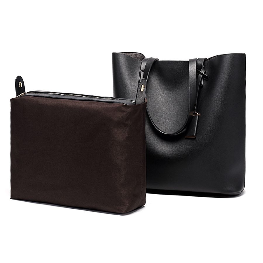 Image 2 - TANGYUE Women Leather Handbags Lady Large Tote Bag Female Pu Shoulder Bag Women's Big Bolsas Sac A Main Femme Ladies Hand Bags-in Shoulder Bags from Luggage & Bags