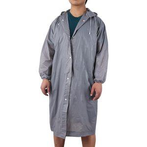Image 4 - Mode Frauen männer EVA Transparent Regenmantel Tragbare Outdoor Reise Regenbekleidung Wasserdichte Camping Mit Kapuze Kunststoff Regen Abdeckung