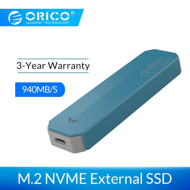 ORICO M2 NVME внешний SSD жесткий диск 1 ТБ SSD 128 ГБ 256 ГБ 512 ГБ M.2 NVME SSD Портативный твердотельный накопитель с USB 3,1 Type C