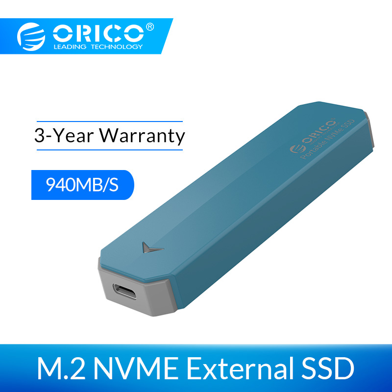 ORICO M2 NVME External SSD Hard Drive 1TB SSD 128GB 256GB 512GB M.2 NVME SSD Portable SSD Solid State Drive With Type C USB 3.1