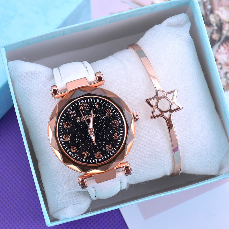 Casual Women Watches Starry Sky Quartz Wristwatch Female Clock Leather Fashion Ladies Wrist Watches reloj mujer relogio feminino 2