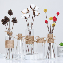 Transparent Glass Vases Ornaments Hydroponics-Plants Dry-Flower Nordic Creative
