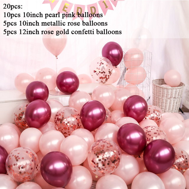 Chrome Pink Balloons Pearl Pink Party Balloons Pink Party Decorations Metallic Pink Balloons Bridal Shower Pink Bachelorette Decors