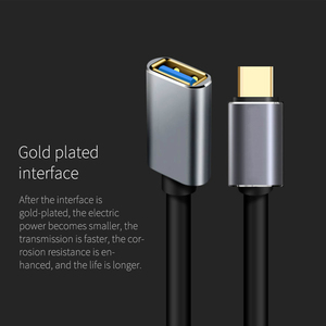 Image 4 - USB C OTG Data Cable Metal Type C Male to USB 3.0 Female Extension Converter For Samsung S10 For Xiaomi Mi8 Huawei Mate 20