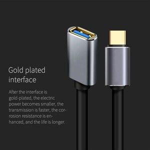 Image 4 - USB C Otg Datakabel Metalen Type C Male Naar Usb 3.0 Female Extension Converter Voor Samsung S10 Voor Xiaomi mi8 Huawei Mate 20