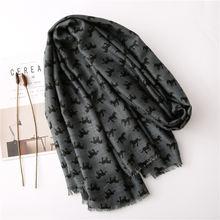 Осень и зима 2020 новый шарф женский Дикий модный теплый хлопковый