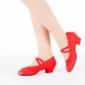 Image 4 - Zapatillas de baile profesionales para Mujer, zapatos de baile para niña y niño